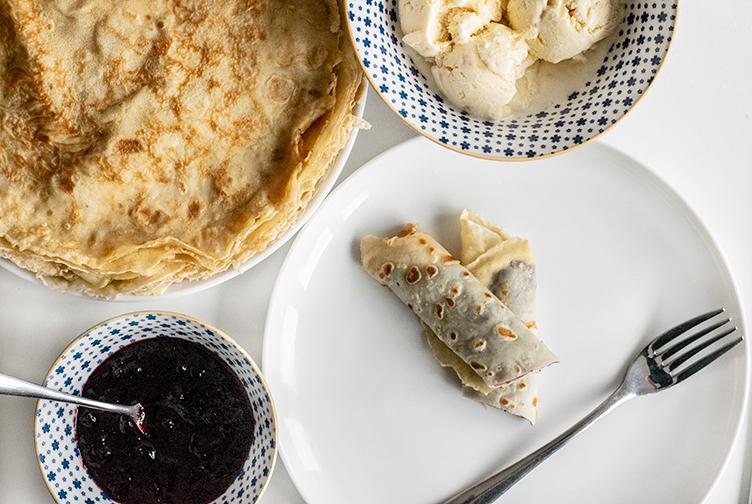 pandekager, pandekage, hjemmebag, dessert, aftensmad, morgenmad, dej