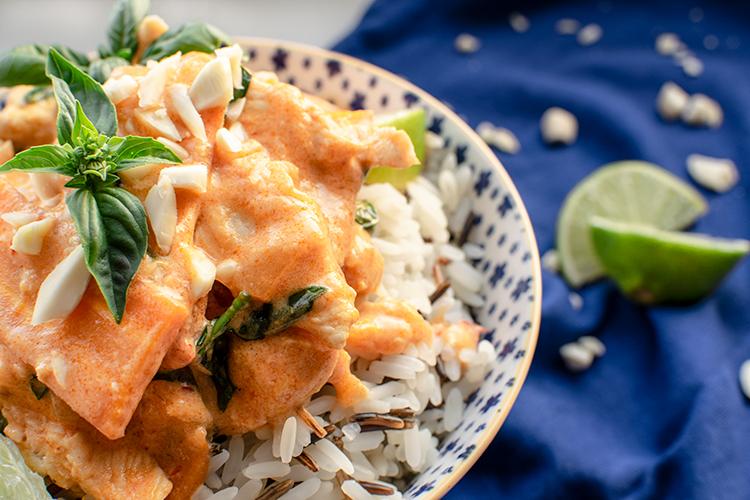 kylling, kylling i karry, indisk mad, stærk kyllingeret, aftensmad, kylling med ris
