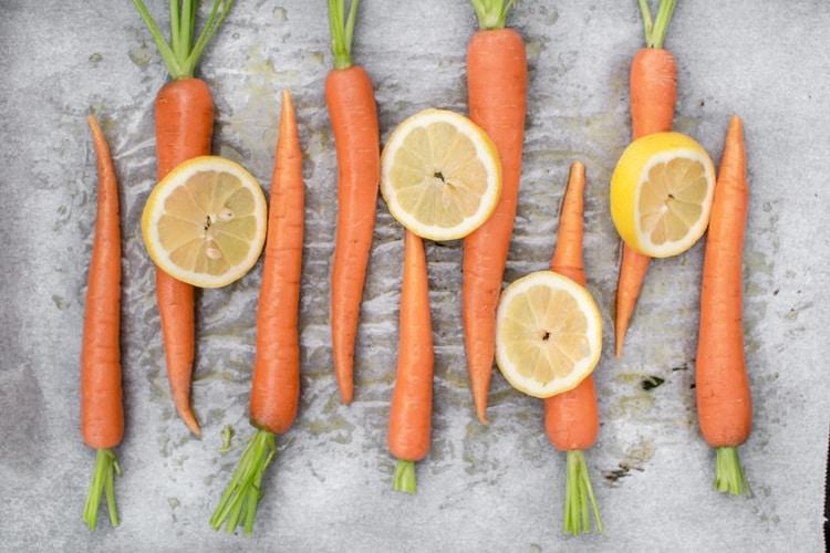 gulerødder, tilbehør, ovnbagte gulerødder, carrots, oven roasted carrots